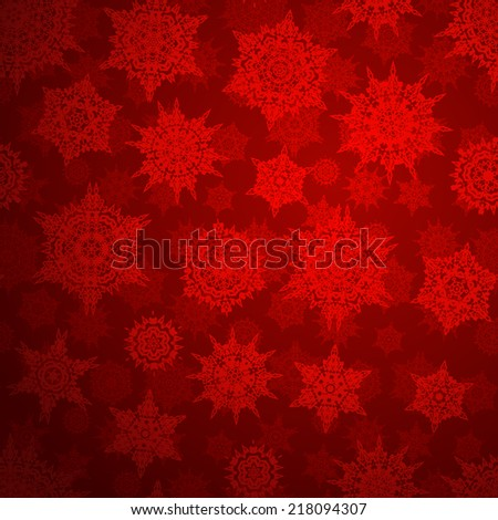 Seamless deep red christmas texture pattern. EPS 10 vector file included - stock vector