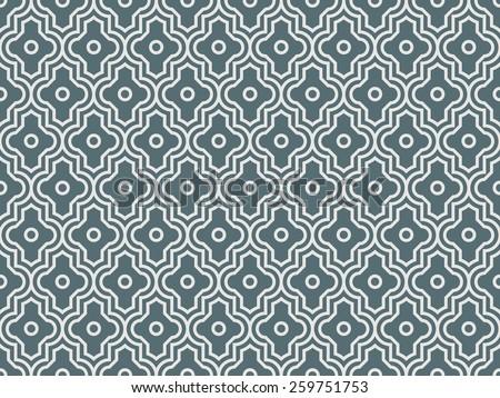 Seamless denim blue enhanced moroccan pattern vector - stock vector