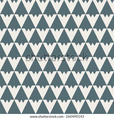 Seamless denim blue vintage art deco diamond pattern vector - stock vector
