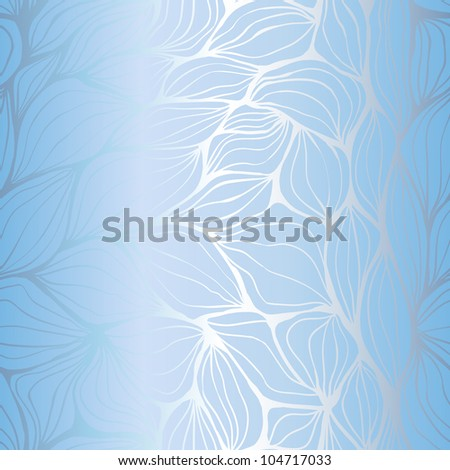 Seamless doodle abstract blue ripples pattern - stock vector
