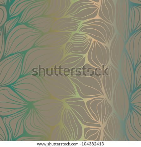 Seamless doodle abstract brown gradient ripples pattern - stock vector