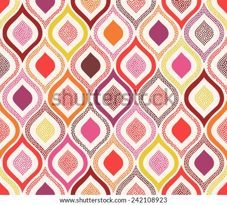 seamless doodle dots ornament pattern - stock vector