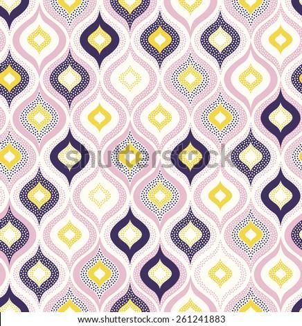 seamless dots geometric funny pattern - stock vector