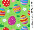 Seamless Easter theme background - vector illustration. - stock vector