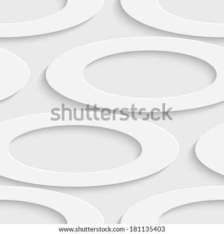 Seamless Ellipse Pattern - stock vector