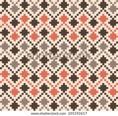 Seamless ethnic geometric pattern - stock vector