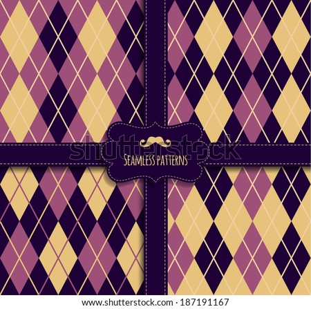 Seamless fabric pattern - stock vector