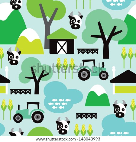 Tractor Wallpaper For Kids Tractor Kids Illustration