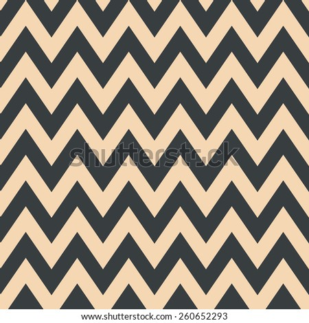 Seamless fashion beige and black zigzag pattern vector - stock vector