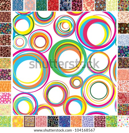 Seamless festive patterns - stock vector