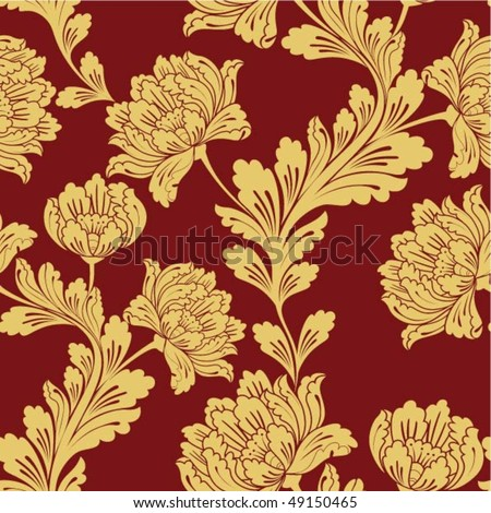Seamless floral background. Vector illustration. - stock vector