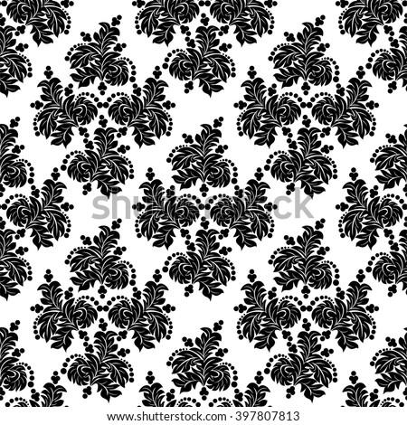 Seamless floral ornamental Wallpaper- design Template - stock vector