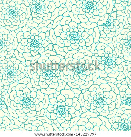 Seamless floral pattern. Can be used for wallpapers, fills, web page background, surface textures. - stock vector