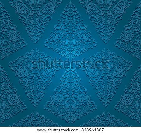 Seamless floral pattern. Vector illustration.  - stock vector