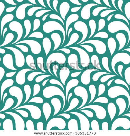 Seamless floral pattern. Vintage seamless background - stock vector