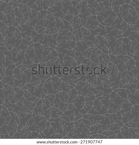 Seamless floral pattern with leaves motive - stock vector
