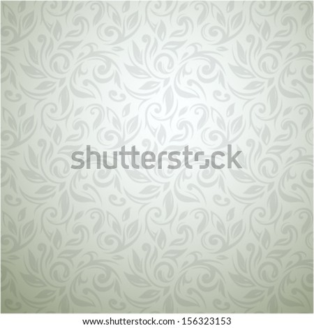 Seamless floral wallpaper ornament - stock vector