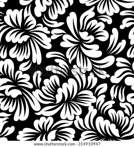 Seamless Floral Wallpaper Pattern - stock vector