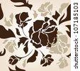 seamless  flower  background - stock vector