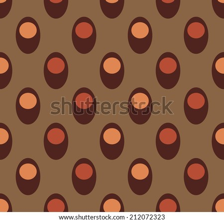 Seamless from rounded elements - stock vector