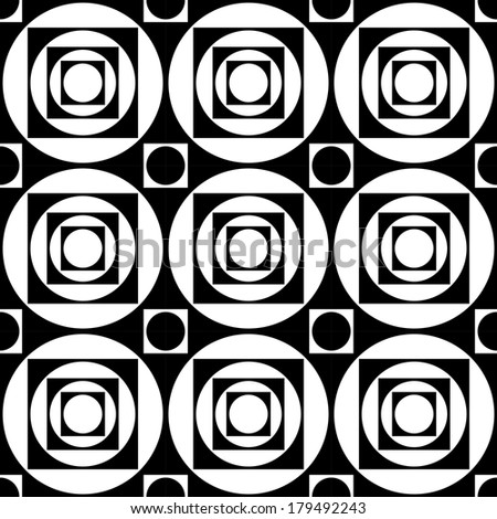 Seamless Futuristic Pattern - stock vector
