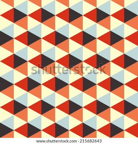 Seamless geometric background. Abstract vector Illustration. Mosaic. Can be used for wallpaper, web page background, book cover.  - stock vector