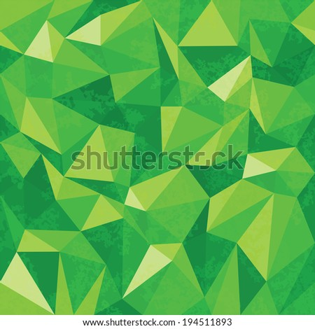 Seamless geometric background of triangular polygons pattern - stock vector
