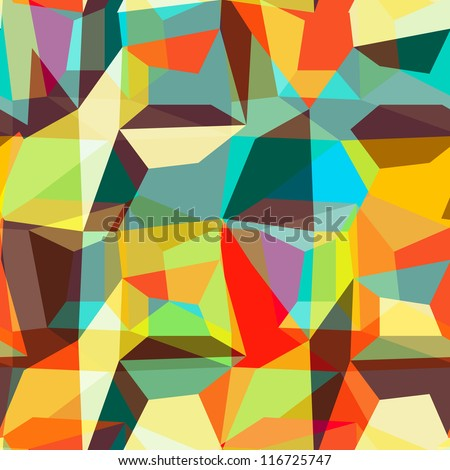 Seamless geometric background pattern, vector - stock vector