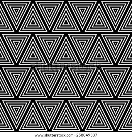 Seamless geometric background, simple black and white stripes vector pattern, accurate, editable and useful background for design or wallpaper. - stock vector