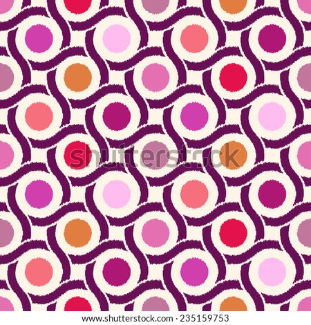 seamless geometric circle abstract pattern - stock vector