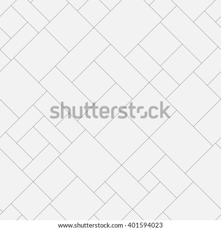 Seamless geometric monochrome diagonal pattern. Abstract floor or pavement block texture. Vector background. - stock vector