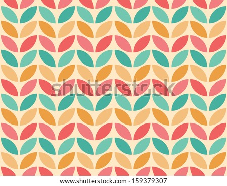 Seamless geometric pattern background - stock vector