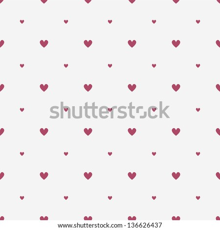 Seamless geometric pattern. Diagonal hearts. vector repeating texture - stock vector