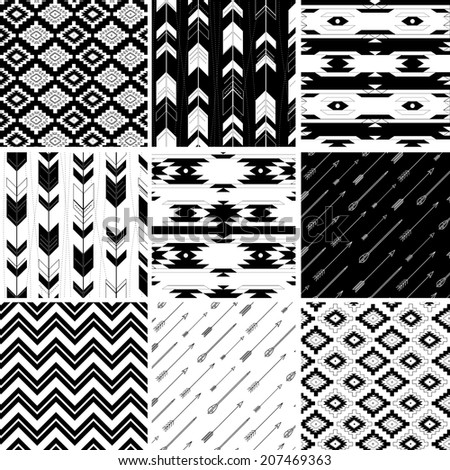 Seamless geometric pattern in aztec style. Ideal for printing onto fabric and paper or scrap booking.  - stock vector