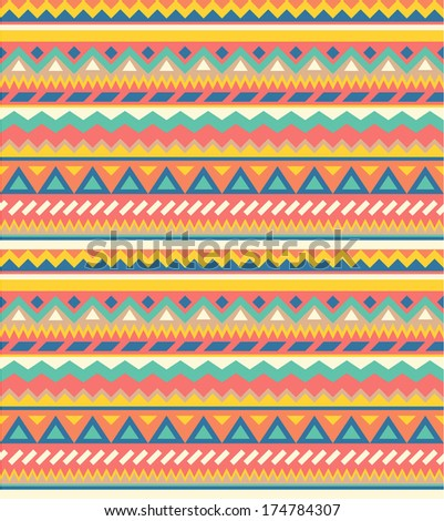 Seamless geometric pattern in ethnic style 2 - stock vector
