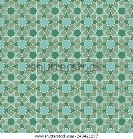 Seamless geometric pattern.  Islamic art.  Vector illustration. - stock vector