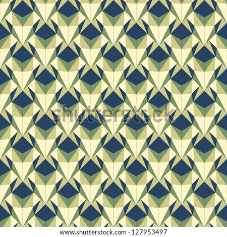 Seamless geometric pattern like origami. Vector. - stock vector