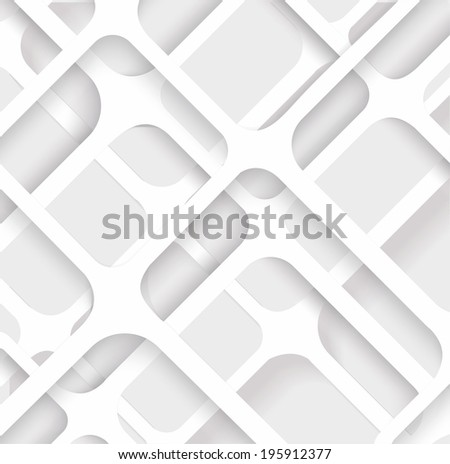 Seamless Geometric Pattern. Monochrome cellular texture. Repeating abstract background  - stock vector