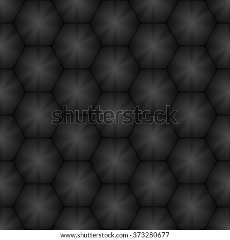 Seamless geometric pattern of hexagons. Metal background. Vector illustration EPS 10. - stock vector