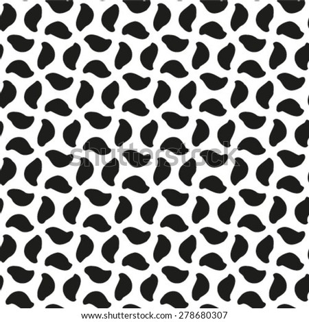 Seamless geometric pattern, simple vector black and white background. - stock vector