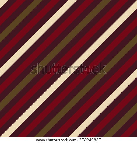 Seamless geometric pattern. Stripy texture for neck tie. Diagonal contrast strips on background. Brown vinous beige colors. Vector - stock vector