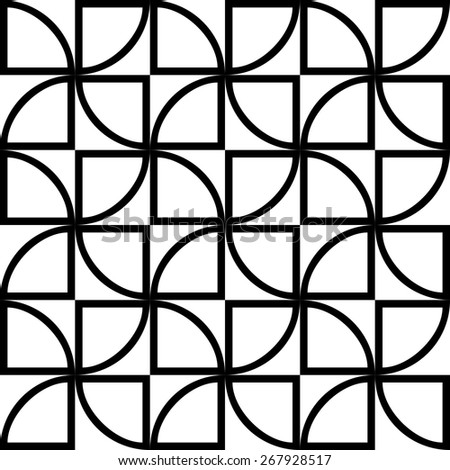 Seamless Geometric Pattern. Vector Black and White Texture - stock vector