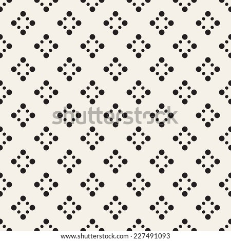 Seamless geometric pattern. Vertical wavy dotted stripes. Vector repeating texture with circles - stock vector