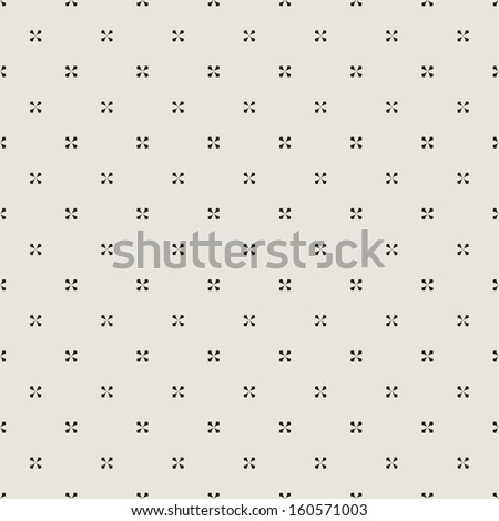Seamless geometric pattern with intersecting diagonal crosses - stock vector