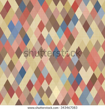 Seamless geometric pattern with texture. Vector illustration - stock vector
