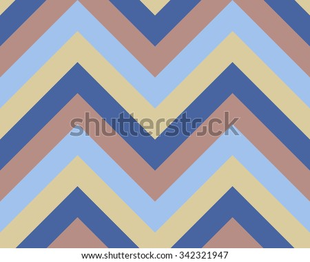 Seamless geometric strip pattern. Stripy texture. Zigzag line background. Diagonal strips. Light, gray, blue, beige, soft colored. Winter theme. Vector - stock vector
