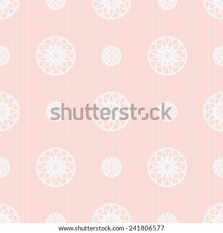 Seamless geometric vector background in shades of pink - stock vector