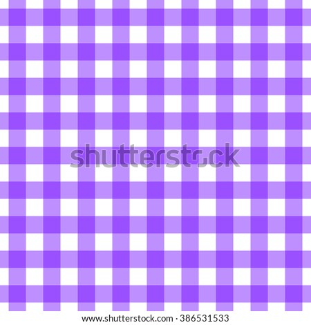 Seamless gingham pattern. Violet check. Boho / indie / hipster / countryside vintage style.   - stock vector