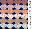 Seamless Ginkgo floral romantic pattern in vector - stock vector