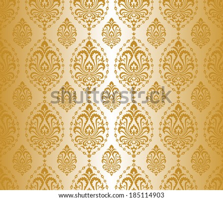 Seamless gold pattern. - stock vector